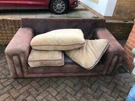Large 2 seater sofa and arms chair for sale great for starter home I can deliver