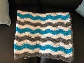 Handmade crochet baby blankets