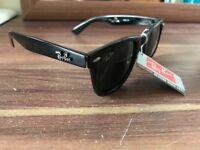 Rayban Original Wayfarer sunglasses Black Acetate, Green Classic G-15 Lenses - RB2140 at Ray-Ban