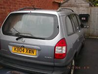 2004 Vauxhall Zafira. 2.2Lt Petrol.