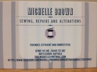Seamstress Services. Michelle Brown Sewing, Repairs and Alterations (minor Upholstery)