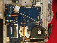 Samsung rv511 complete keyboard+motherboard+processor