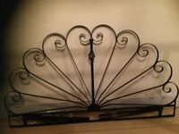 Black wrought iron headboard suitable for double bed £15