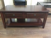 Mahogany Solid Wood Coffee Table with Storage