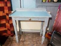 Upcyled Victorian wash stand