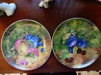 Two china plates by Bavaria Germany Winterling.