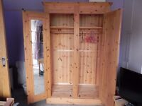 Antique Pine double wardrobe Excellent condition
