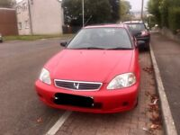 HONDA CIVIC EJ9 1.4se Petrol 2001 VERY LOW MILEAGE 57k IMMACULATE CONDITION BARGAIN £850