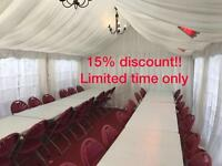 MARQUEE/GAZEBO/TENT HIRE *15% OFF!!BOUNCY CASTLES , CANDY FLOSS AND POPCORN MACHINES