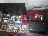 PS3 slimline 320gb and seven game + 24 inch HD tv
