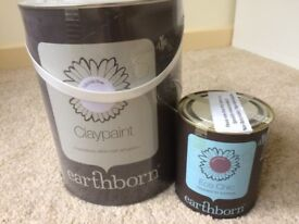 Earthborn Claypaint, Lily Lily Rose (5l) and Earthborn Furniture Paint, Damson Mousse (750ml)