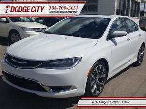 2016 Chrysler 200 C   FWD - Heated Leather, Sunroof, Bluetooth