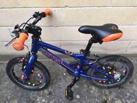 "Carrera Cosmos Kids Bike with 14"" Wheels and Lightweight Aluminium Frame"