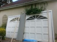 Fibreglass up and over garage door with electric unit