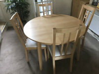 IKEA Dining Table, Dresser and 4 chair set.
