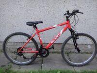 Apollo Slant bike, 26 inch wheels, 18 gears, 17 inch frame, front suspension