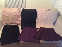 Job lot: 6 Ted Baker skirts