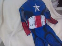 Captain America Outfit Fancy dress Age 3-4 Marvel Avengers Rubies brand