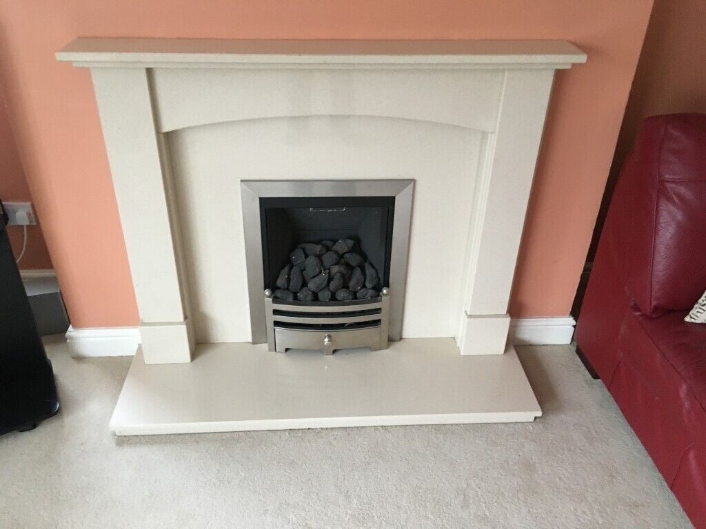 Marble Fireplace Surround With Hearth And Paragon 2000 Plus Gas Fire In Market Harborough Leicestershire Gumtree