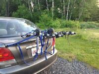 Thule rack, holds up to 3 bikes
