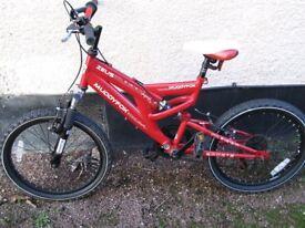 Muddy fox bike (red in colour)