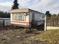 SITED STATIC CARAVAN SITED AT BRIDGNORTH NEAR THE RIVER SEVERN