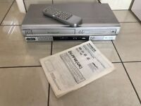 DVD and Video Cassette VHS Player / Recorder Combo with Remote Control. Good Condition
