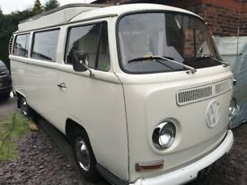 VW T2 Early Bay Classic Campervan 1969 RHD, 4100 on new engine, 'Devon' camping interior, NO RUST
