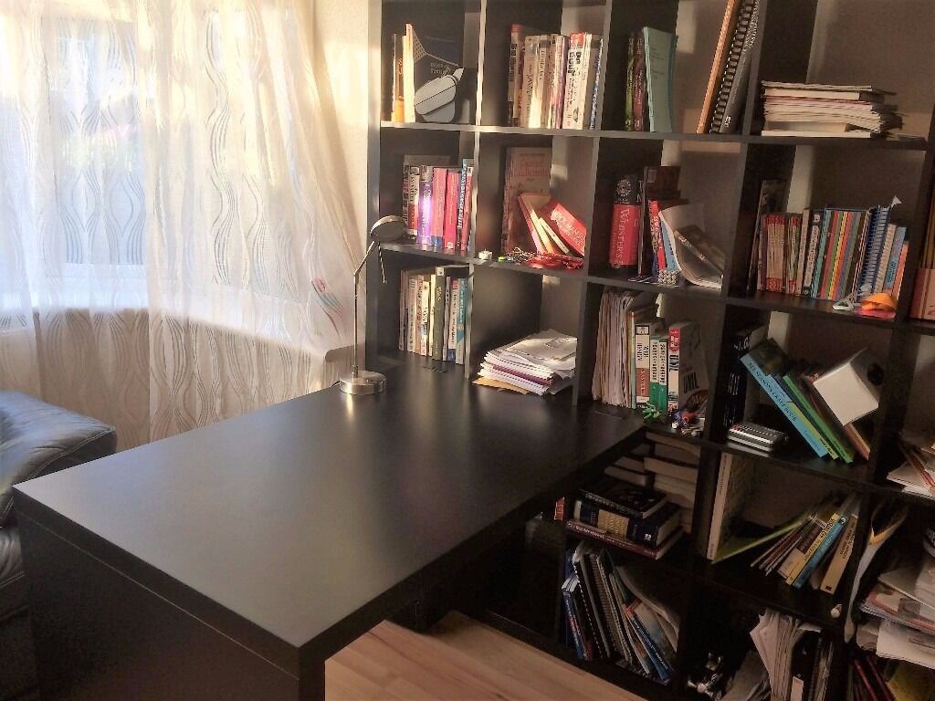 IKEA BILLY 55 wall shelf and tablein Harrow, LondonGumtree - IKEA BILLY 55 wall shelf and table. Mint condition. Very useful. Hold loads of stuff and table can be used in combo or taken away. Yours to pick up yourself for £30 only!