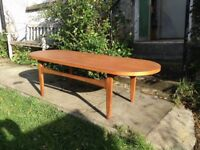 Large Mid Century G Plan D End Coffee Table