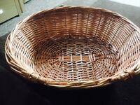 Wicker cat/ small dog bed