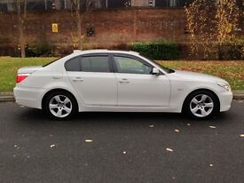 2009 White BMW 5 Series 3.0 525d SE Business Edition Manual Diesel 4dr Saloon P/X Welcome 530d 535d