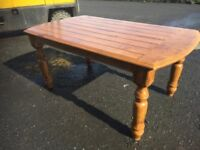 Beautiful large solid pine farmhouse style dining table