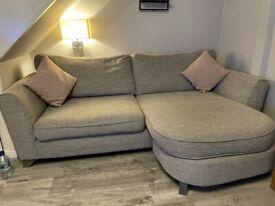 Grey sofa and armchair