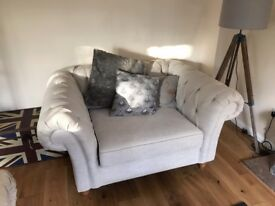 Next chesterfield sofa and snuggle seat