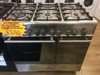 KENWOOD 90CM ALL GAS RANGE STYLE COOKER IN SHINY SILIVER