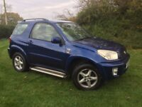 FANTASTIC LOW MILEAGE TOYOTA RAV 4 MANUAL, 16 TOYOTA SERVICES, 1 OWNER, NEW CLUTCH-LONG MOT