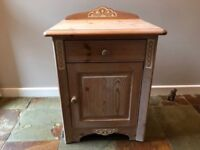 Gorgeous limed pine bedside cabinets.
