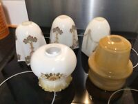 Vintage glass light shades 5