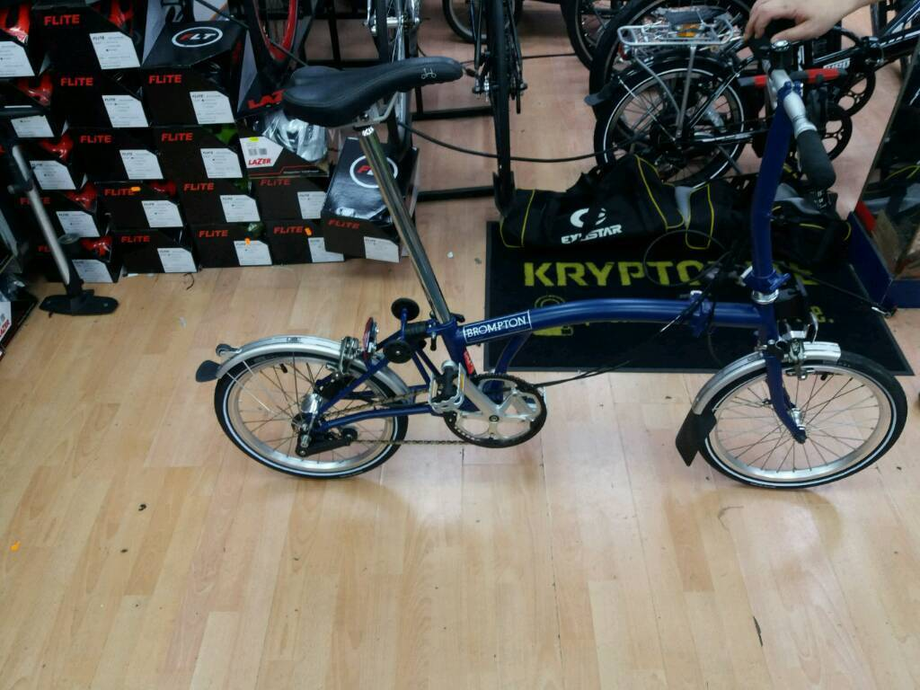 Brompton bike for sale in excellent condition