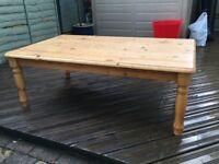 Large pine Ikea coffee table