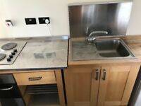Bargain free standing kitchen with hob & oven
