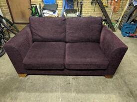 M&S Plum Double Sofa Bed
