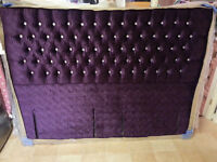 SUPER KINGSIZE MIMO TURIN VELVET HEADBOARD 6FT - BRAND NEW