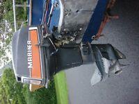 OUTBOARD 40 HP SHORT SHAFT MARINER, CONTROLS & TANK