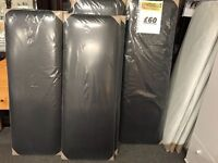 *BRAND NEW* FACTORY SEALED DOUBLE SIZE BLACK FAUX LEATHER HEADBOARDS*
