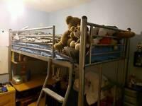 High Sleeper Bed Frame with desk & Futon & Desk
