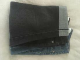 Cropped jeans, size 12