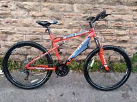 """New Men's Boss Carnage Dual Suspension 27.5"""" 650b Mountain Bike 21"""" for Taller Riders RRP £399"""