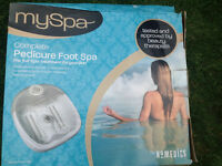 Homedics Pedicure Foot Spa - NEW & BOXED